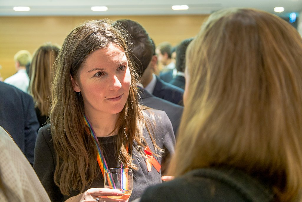 Females speaking during networking